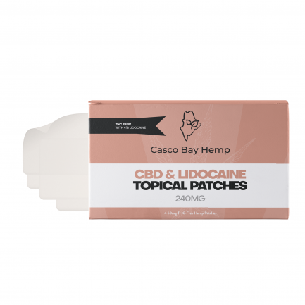 CBD Transdermal Patches with Lidocaine (240mg) | Craft Maine CBD | Casco Bay Hemp