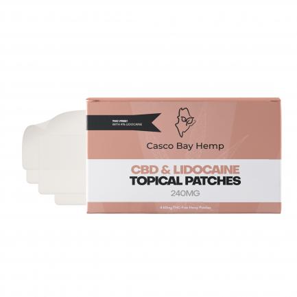 CBD Transdermal Patches with Lidocaine (240mg) | Craft Maine CBD | Casco Bay Hemp