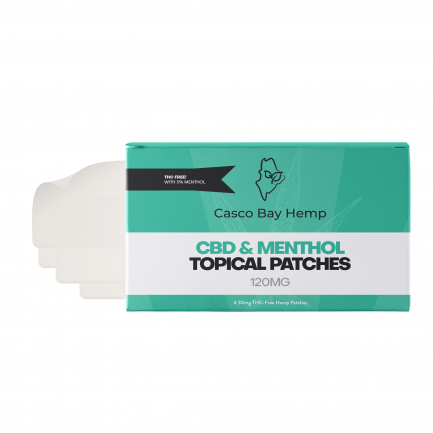 CBD Transdermal Patches with Menthol (120mg) | Craft Maine CBD | Casco Bay Hemp