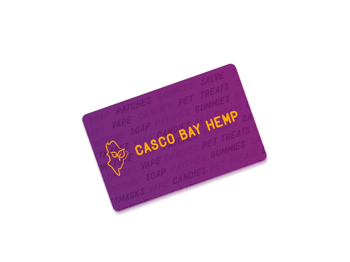 CBD eGift Cards from Casco Bay Hemp | The Perfect Stocking Stuffer